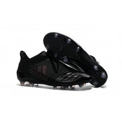 adidas Crampons - Chaussure X 16+ Purechaos FG / AG Cuir Tout Noir
