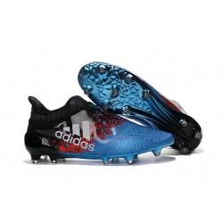 Nouvelles Chaussure Adidas X 16+ Purechaos FG Bleu Noir Rouge Blanc