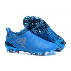 Nouvelles Chaussure Adidas X 16+ Purechaos FG Argenté Bleu