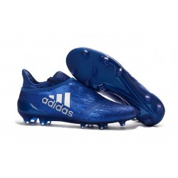 Chaussure X 16+ Purechaos Terrain souple pour Homme Bleu Argenté