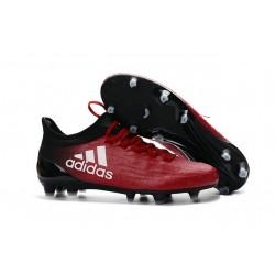 2016 Nouveau Adidas X 16.1 FG/AG - Chaussures de Foot Rouge Blanc Noir