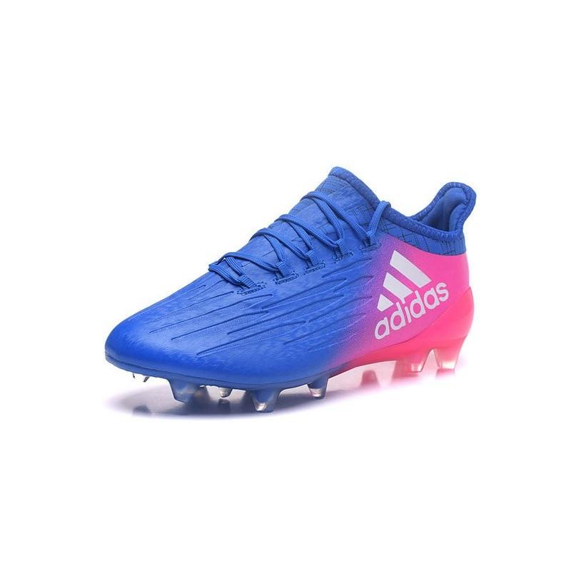 chaussure de foot adidas bleu et rose