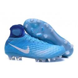 Nouvelles - Nike Magista Obra II FG - Crampons foot Bleu Blanc