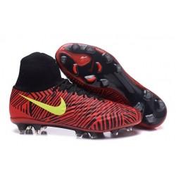 Nouvelles Crampons Nike Magista Obra II FG Pas Cher Noir Rouge Jaune