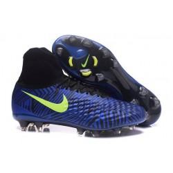 Nouvelles Crampons Nike Magista Obra II FG Pas Cher Bleu Noir Volt