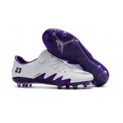 NIKE Chaussures Hypervenom Phinish 2 Fg pour Homme Blanc Violet
