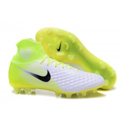 Nouvelles - Nike Magista Obra II FG - Crampons foot Blanc Volt Noir