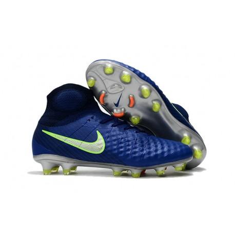 Nike Magista Obra 2 FG Chaussure Football - Bleu Vert