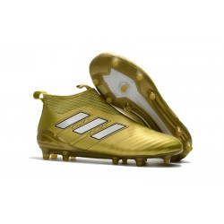 Chaussure Football Adidas Ace17+ Purecontrol FG Homme - Or Blanc