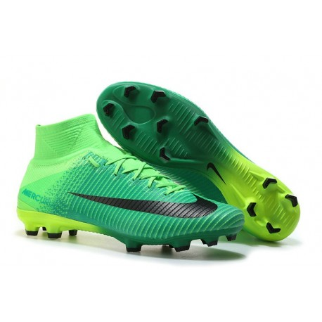 promo code competitive price retail prices Nike Mercurial Superfly V CR7 FG Nouveau 2017 Crampon Football Noir Vert