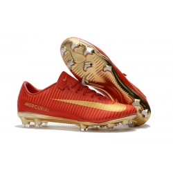 Nike Mercurial Vapor XI FG ACC Nouvelle 2017 Crampon Foot CR7 Or Rouge