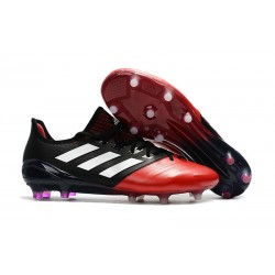Crampons Adidas 2017 Ace 17.1 FG - Hommes - Noir Rouge Blanc