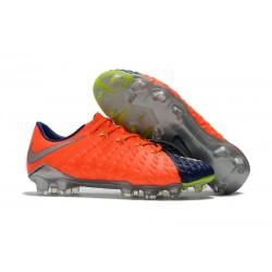 Nouveau Chaussures de Football Nike Hypervenom Phantom III FG Orange Bleu Argent