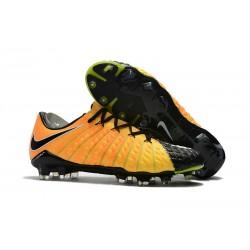 Nouveau Chaussures de Football Nike Hypervenom Phantom III FG Jaune Noir