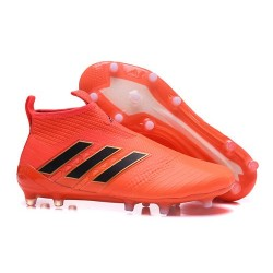 Adidas Ace17+ Purecontrol FG 2017 Nouvelle Crampons Foot - Orange Noir