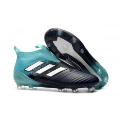 Chaussure Football Adidas Ace17+ Purecontrol FG Homme - Energy Aqua Blanc Legend Ink