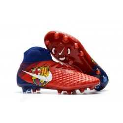 Nike Magista Obra 2 FG Chaussure Football - Barcelona Rouge Bleu