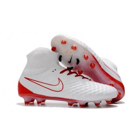 Nike Magista Obra 2 FG Chaussure Football - Rouge Blanc