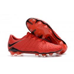 Nouveau Chaussures de Football Nike Hypervenom Phantom III FG Rouge Noir