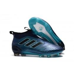 Chaussure Football Adidas Ace17+ Purecontrol FG Homme - Bleu Noir