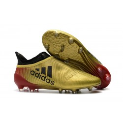 Adidas X 17+ Purespeed FG Crampons pour Hommes Noir Or Rouge