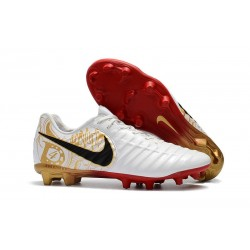 Hommes Chaussures de Football Nike Tiempo Legend VII FG Blanc Or Vif