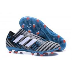 Nouveau Crampons Foot Adidas Nemeziz Messi 17.1 FG Gris Noir Bleu