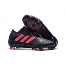 Nouveau Crampons Foot Adidas Nemeziz Messi 17.1 FG Noir Rose