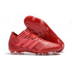 Nouveau Crampons Foot Adidas Nemeziz Messi 17.1 FG Rouge Rose