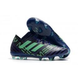 Nouveau Crampons Foot Adidas Nemeziz Messi 17.1 FG Encre Vert Noir