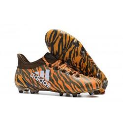 Nouvelles Chaussures de Football - Adidas X 17.1 FG Orange Vif Olive