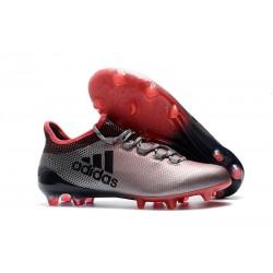 Nouvelles Chaussures de Football - Adidas X 17.1 FG Gris Rose Noir