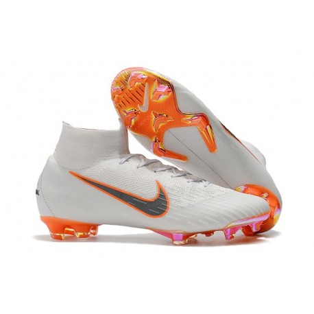 Orange De Fg Vi Nike Crampons Superfly Total Football 360 Métallique Mercurial Elite Blanc Gris OPuikXZ