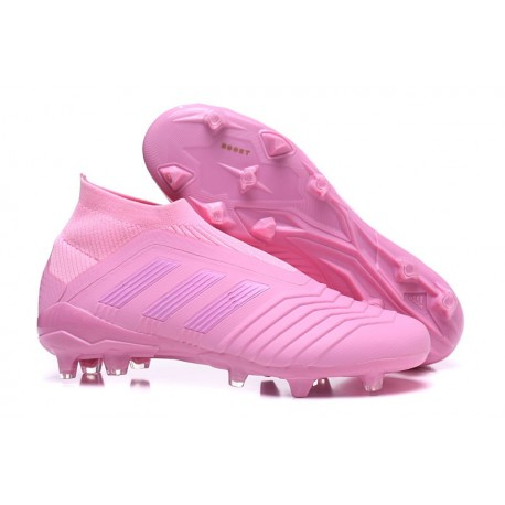 Chaussures de Football Pas Cher Adidas Predator 18+ FG Rose