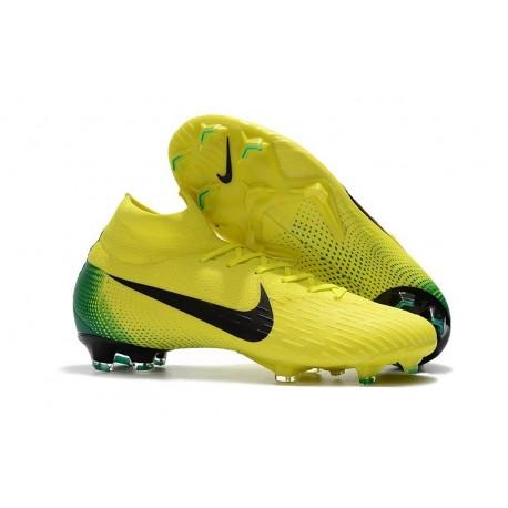 emballage élégant et robuste date de sortie: Achat Crampons de football Nike Mercurial Superfly VI 360 Elite FG Jaune Noir