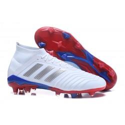 Nouvelles Chaussures de Football - adidas Predator Telstar 18.1 FG Argent Rouge Bleu