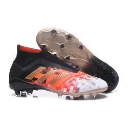 Chaussures de Football Pas Cher Adidas Predator Telstar 18+ FG Noir Cuivre Gris