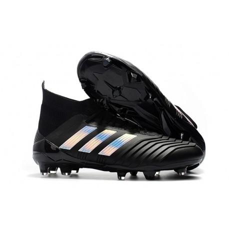 2018 Chaussures de Football - adidas Predator Telstar 18.1 FG Noir argent