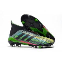 Chaussures de Foot 2018 - adidas Predator 18.1 FG Vert Noir Jaune