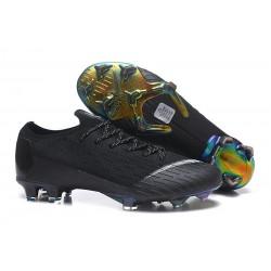 Chaussures de Foot Nike Mercurial Vapor 12 Elite FG Noir Blanc