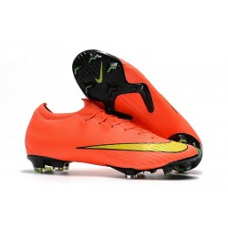 Crampon de Foot Nike Mercurial Pas Cher Vapor 360 XII Elite FG Orange Jaune
