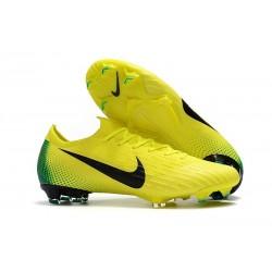 Crampons De Football Nike Mercurial Vapor XII Elite FG Jaune Volt Noir