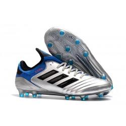 Nouvelles Crampons foot Adidas Copa 18.1 FG Argent Métallique Noir Bleu