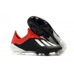 Crampons de football Adidas X 18.1 FG Pour Hommes - Noir Blanc Rouge