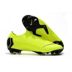 Chaussures de football pour Hommes - Nike Mercurial Vapor 12 Elite FG Jaune Fluorescent