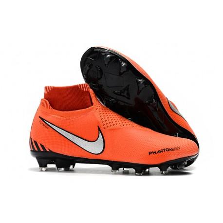 officiel en vente en ligne à bas prix Chaussures Nike Phantom Vision Elite DF FG pour Hommes Rouge Noir Blanc