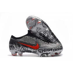 Chaussures de football pour Hommes - Nike Mercurial Vapor 12 Elite FG Neymar Noir Blanc Rouge