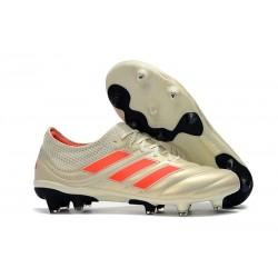 Neuf - Chaussures de Football Adidas Copa 19.1 FG Blanc Cassé Rouge Solaire Noir